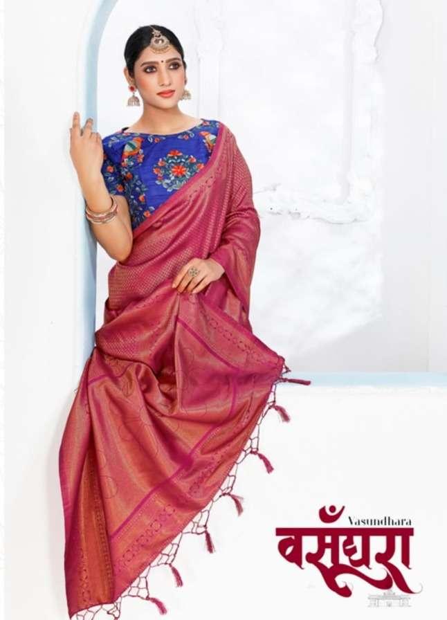 reynolds sarees vasundhara authorized silk sari wholesaler in surat