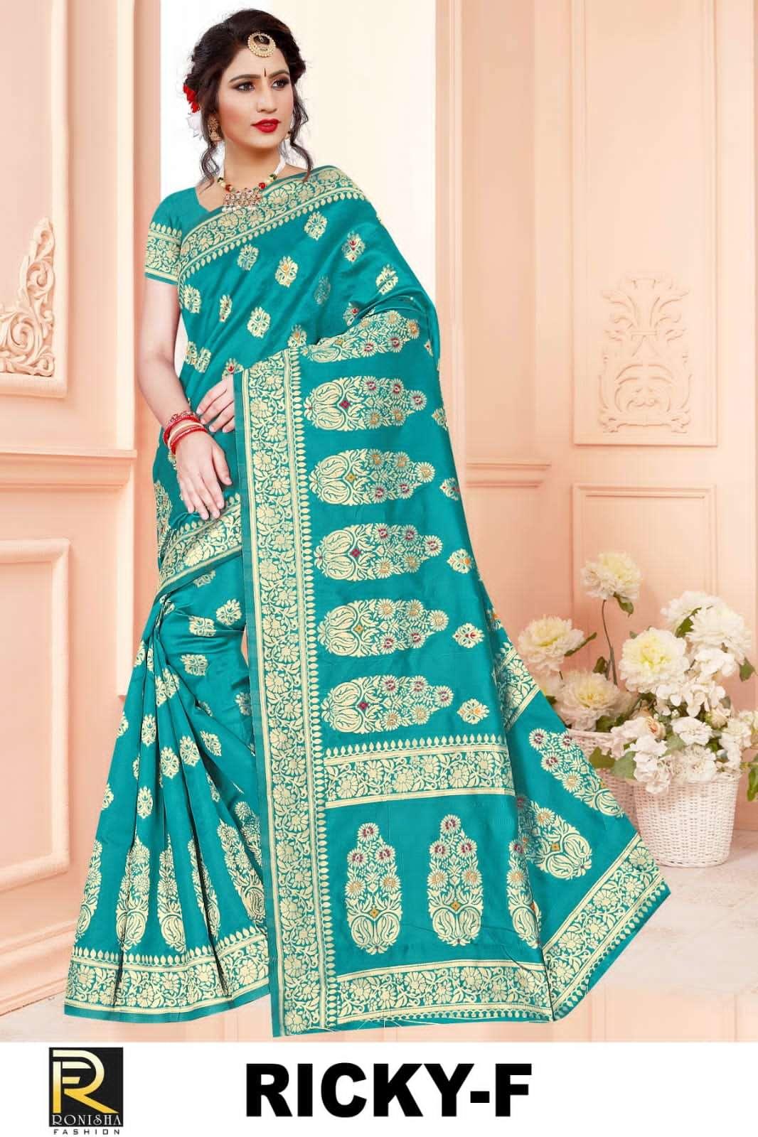 Ricky by ranjna saree ethnik wear silk saree collction wholesale shop