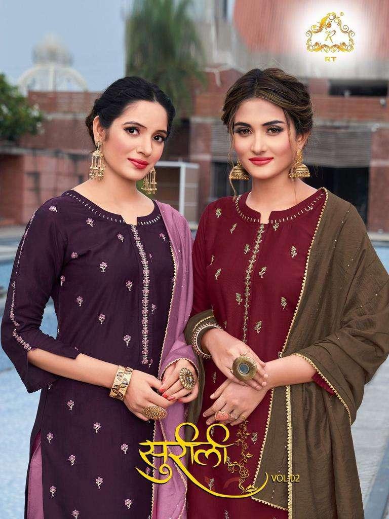 Rijiya Trends present SURILI VOL-2 readymade collection designer kurti with plazzo and dupatta