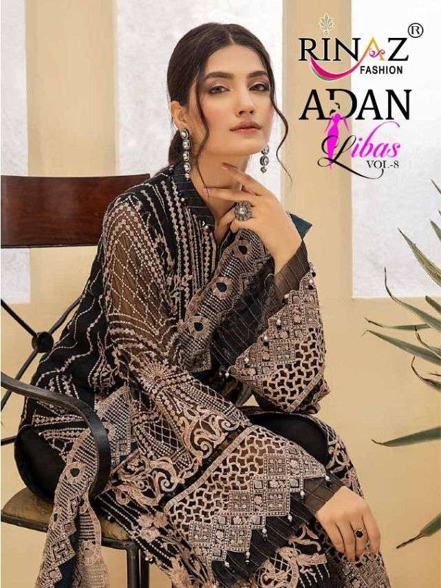 rinaz adan libas vol 8 georgette pakistani stylish suits