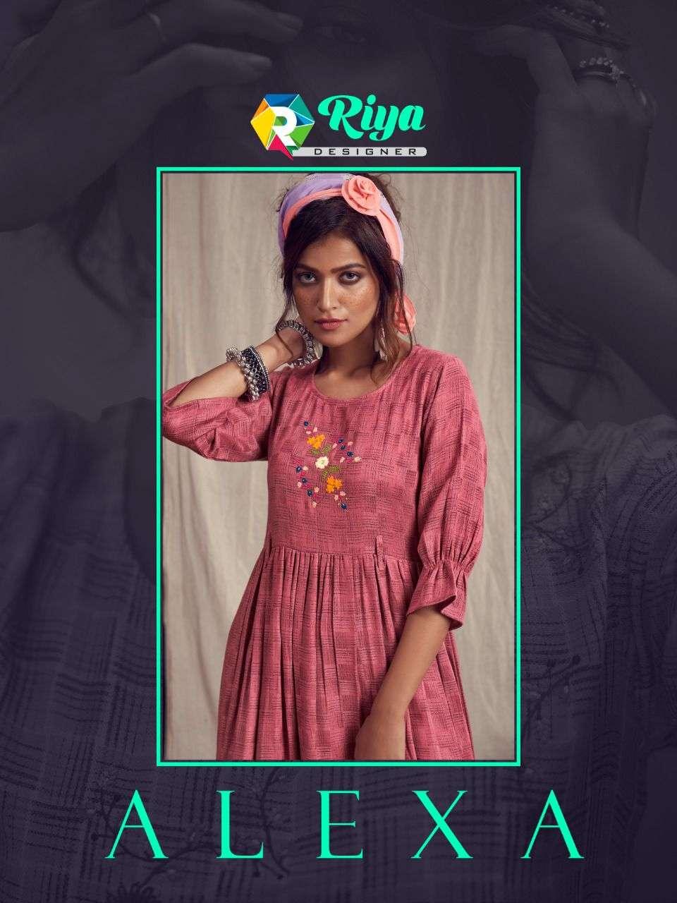riya designer alexa heavy pashmina daily wear simple kurtis