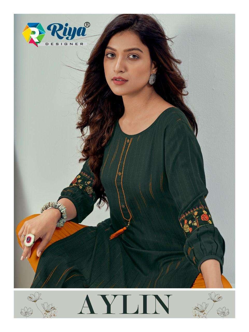 riya designer aylin rayon daily wear simple kurtis