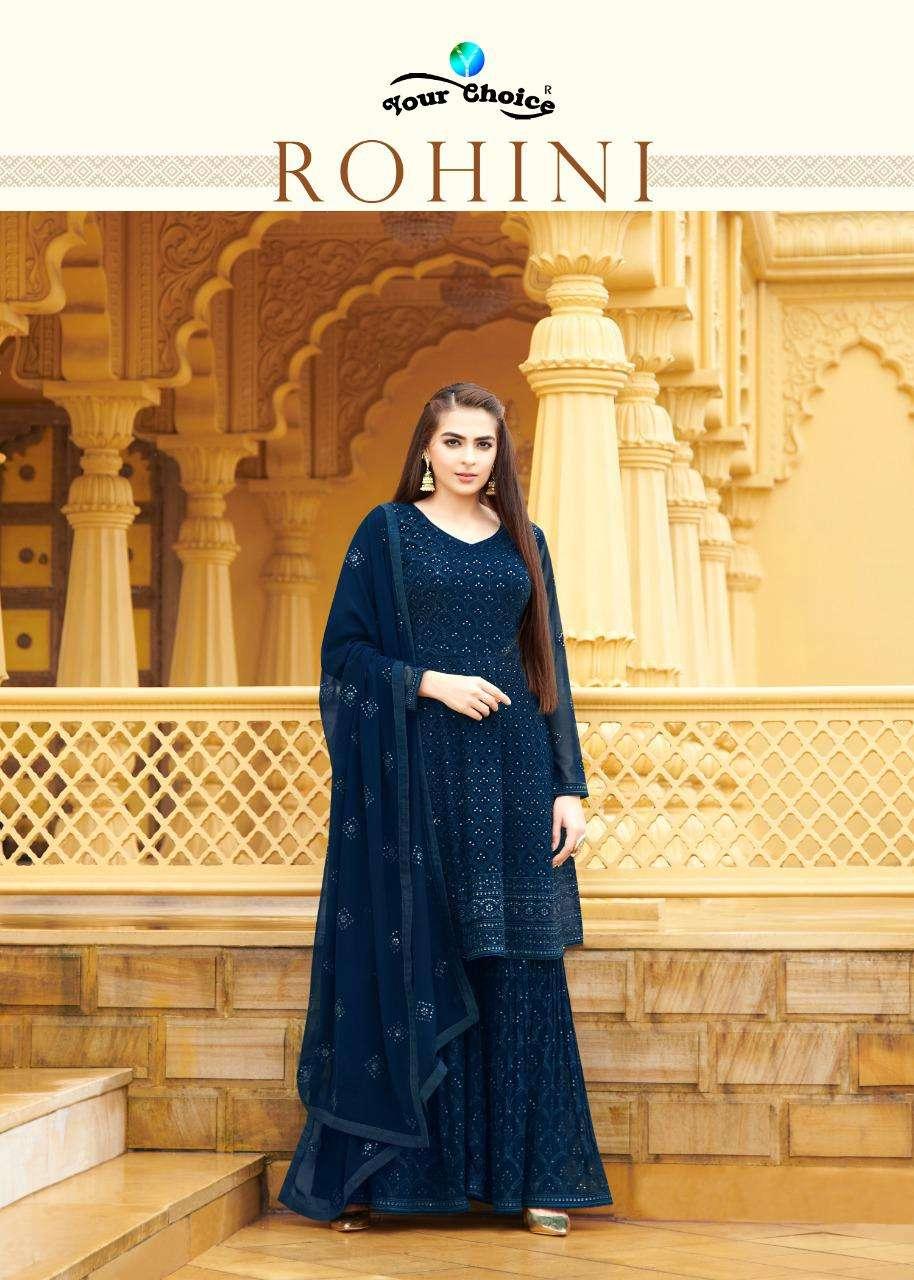 rohini by your choice georgette exclusive peplum salwar kameez