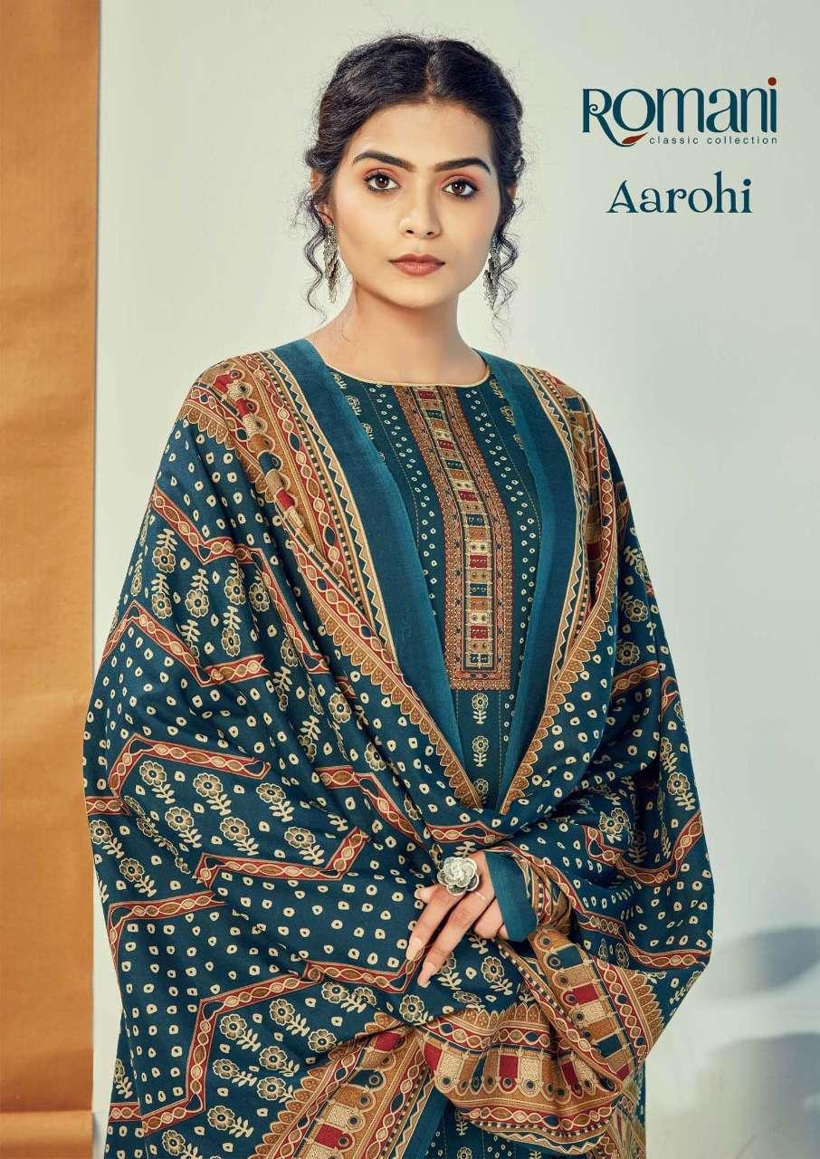 romani present aarohi pure heavy spun digital style printed salwaar kameez