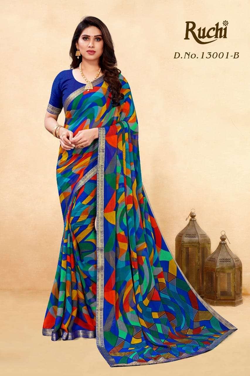 ruchi simayaa vol 8 chiffon banarasi border daily wear sarees