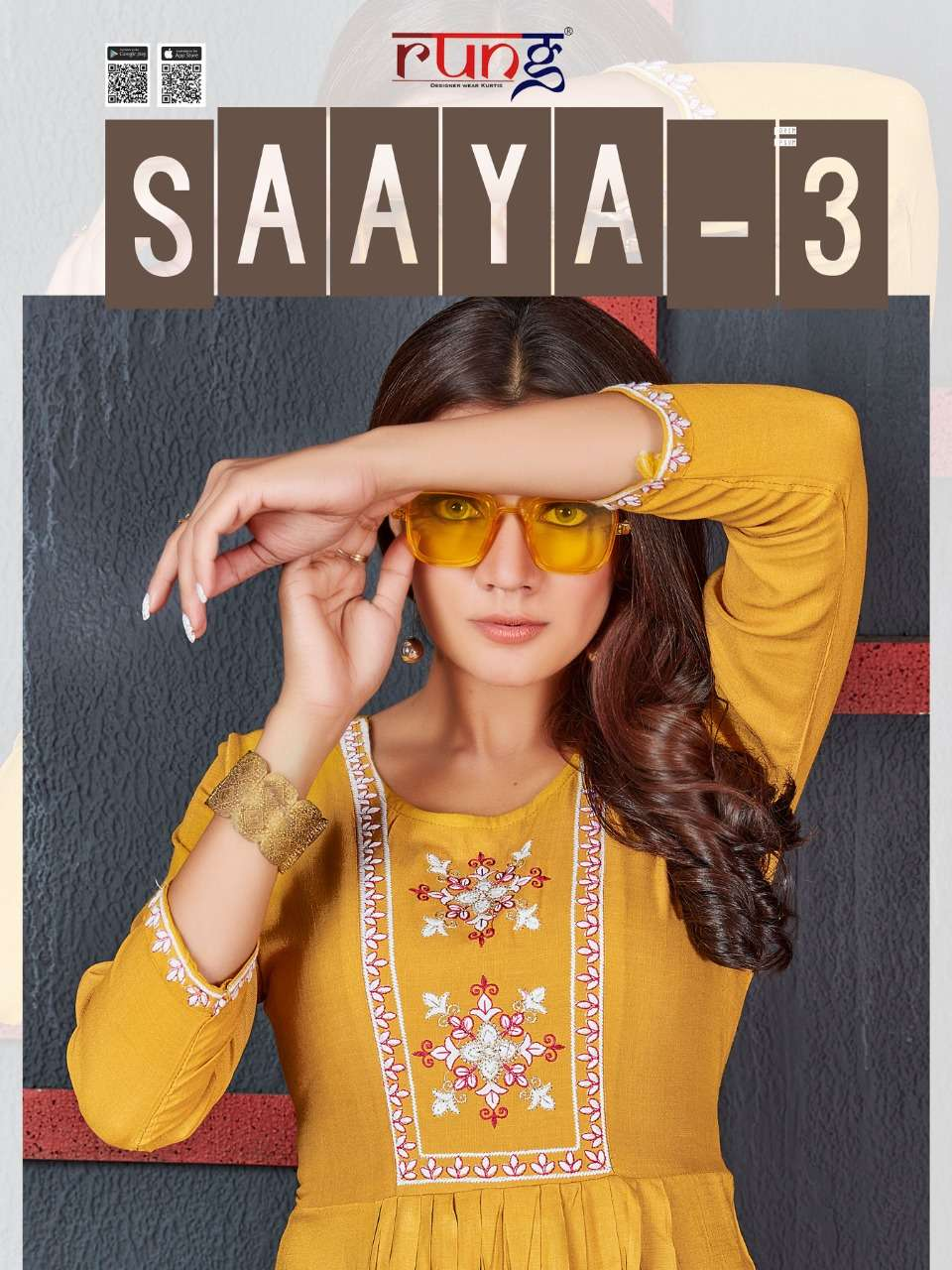 Rung saaya vol 3 fancy short kurti wholesaler