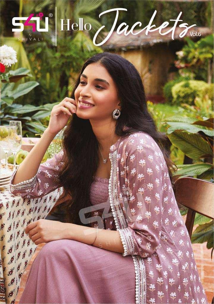 s4u hello jackets vol 6 exclusive designer fancy kurti with jacket