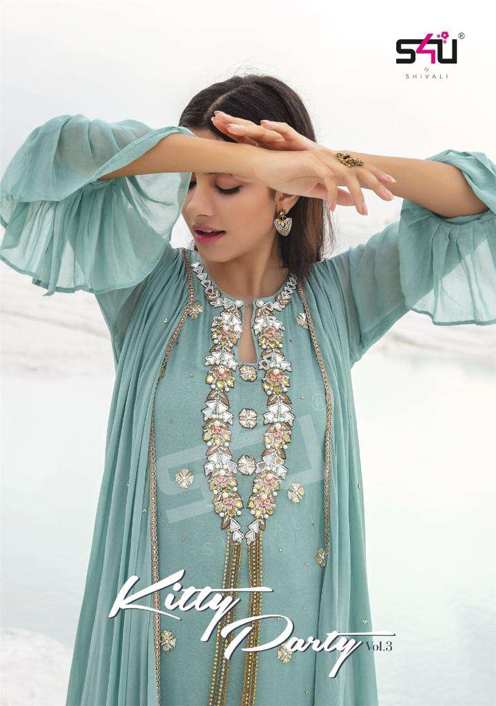 s4u launch kitty party vol 3 exclusive drape gowns with intricate handwork for festival season