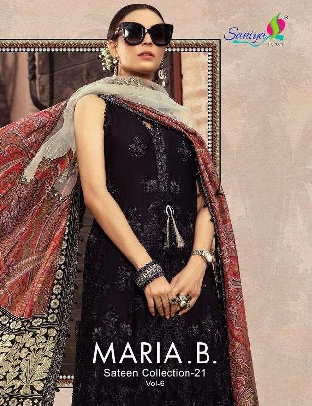 saniya maria b sateen collection vol 6 georgette pakistani dresses