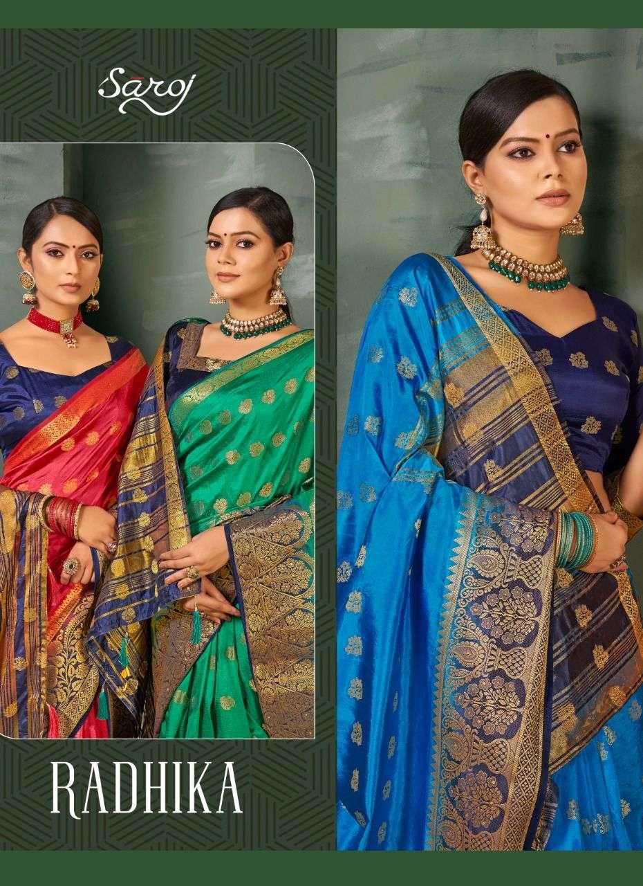 saroj radhika nylon silk series 220001 to 220005 good looking gorgeous fancy sarees