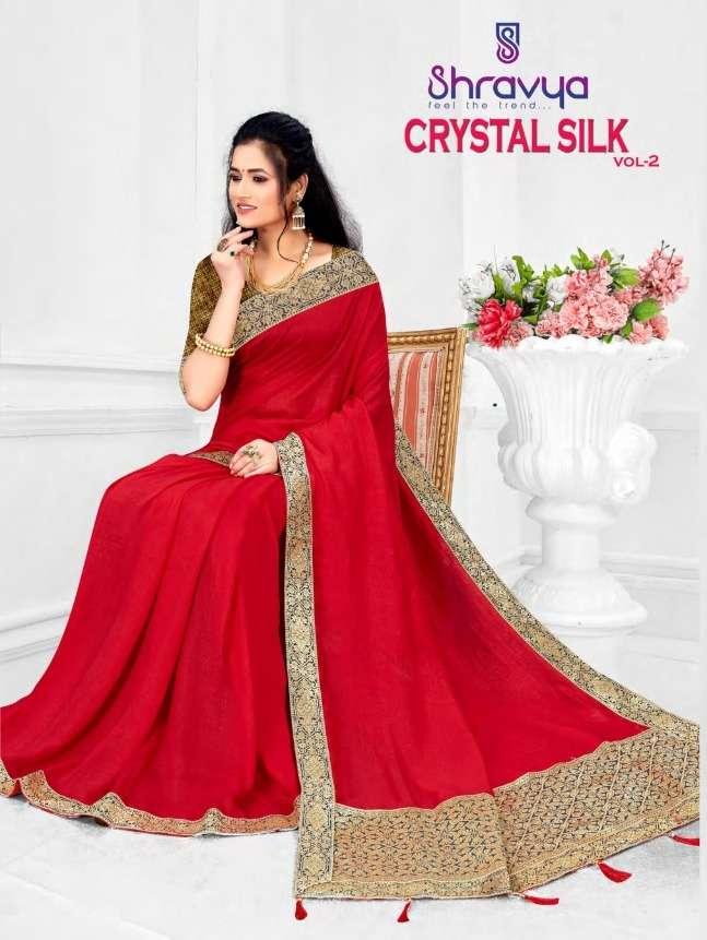 shravya crystal silk vol 2 vichitra saree at lowest price