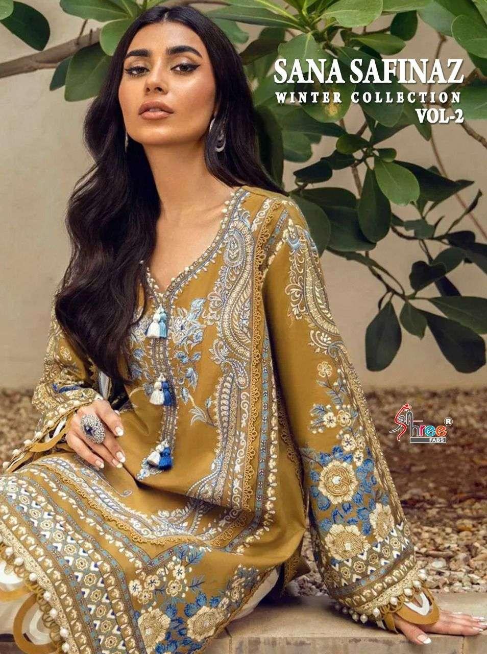 Shree fabs launch sana safinaz vol 2 pashmina designer salwaar kameez
