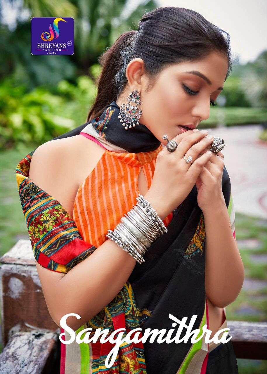 Shreyans fashion sangamithra fancy cotton sarees collection
