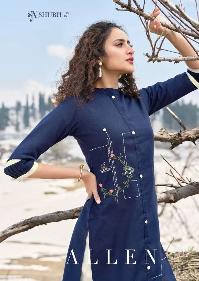 shubh nx allen readymade fancy kurti with pant supplier