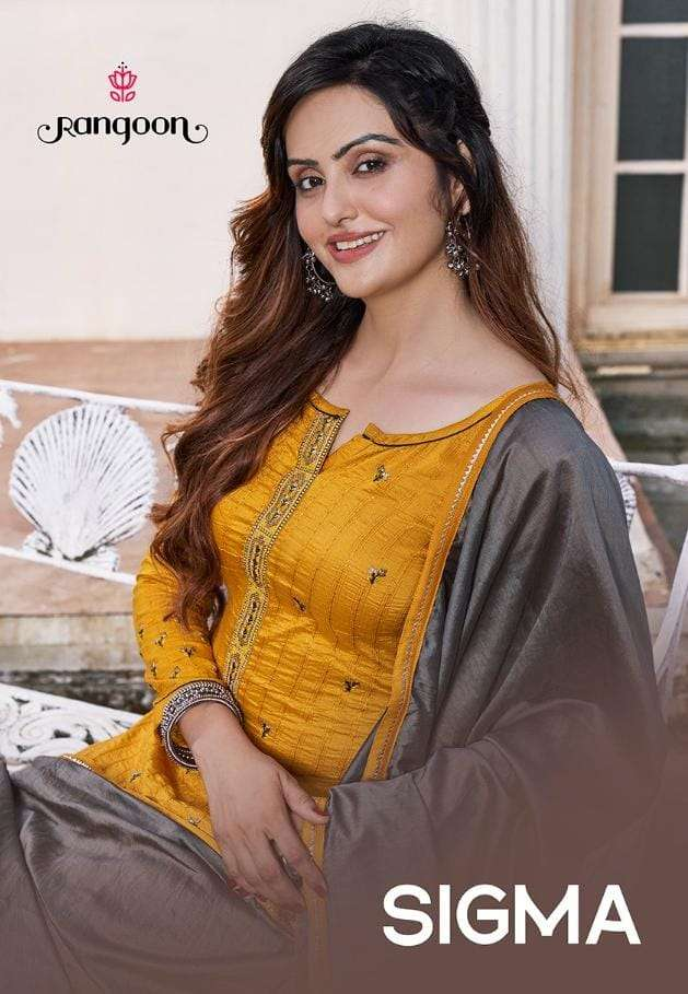 sigma by rangoon silk weaving readymade fancy salwar kameez
