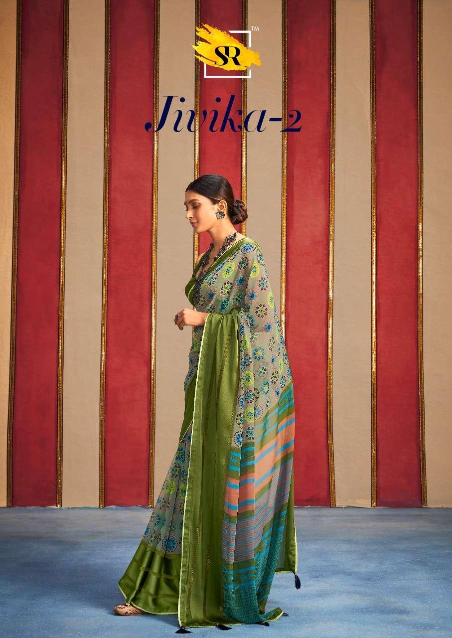 sr jeevika vol 2 weightless satin border saris wholesaler