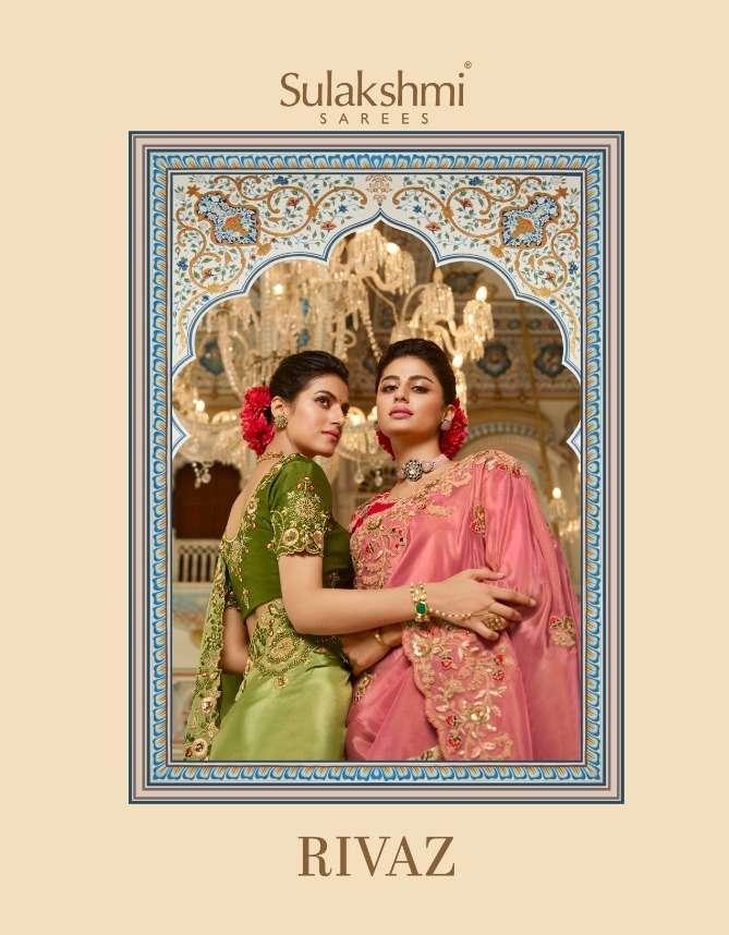 sulakshmi sarees rivaz 7001-7012 series wedding sarees party wear sarees wholesaler in surat market