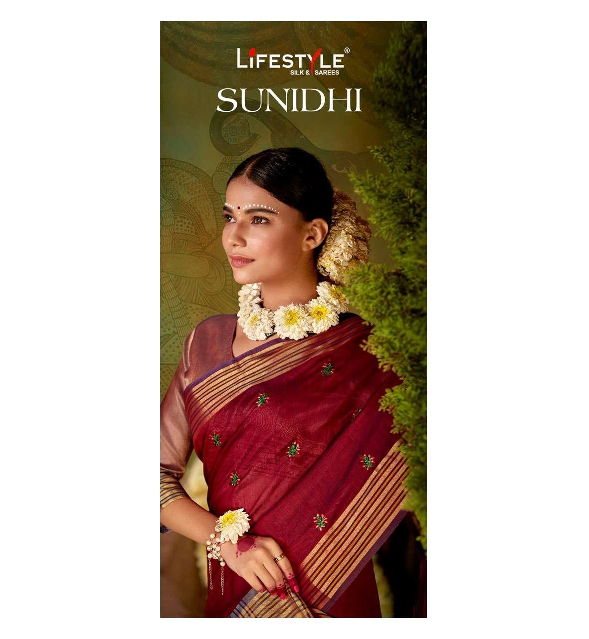 sunidhi vol 1 by lifestyle chanderi silk designer fancy sarees