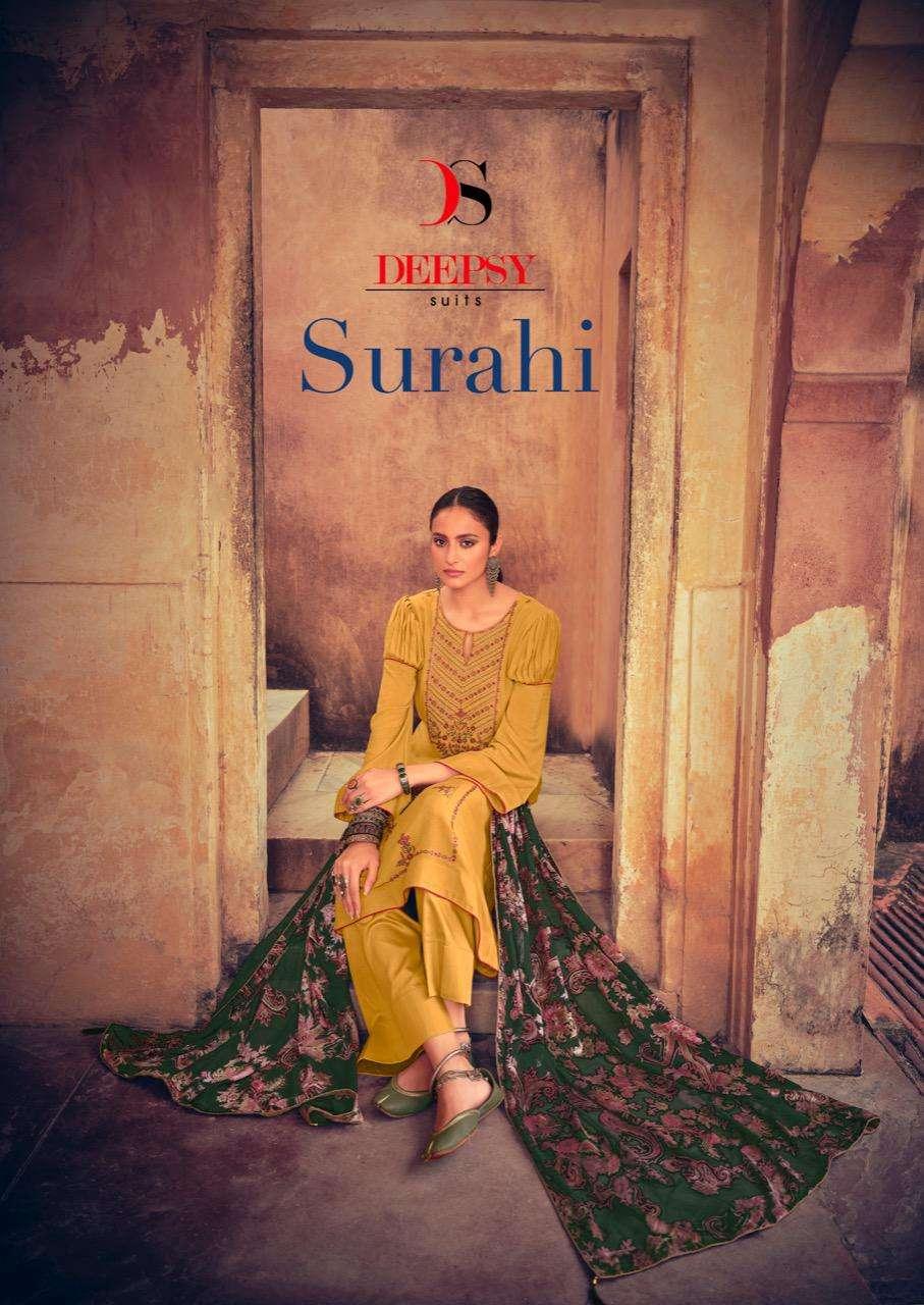 surahi by deepsy suits viscose pashmina winter salwar kameez