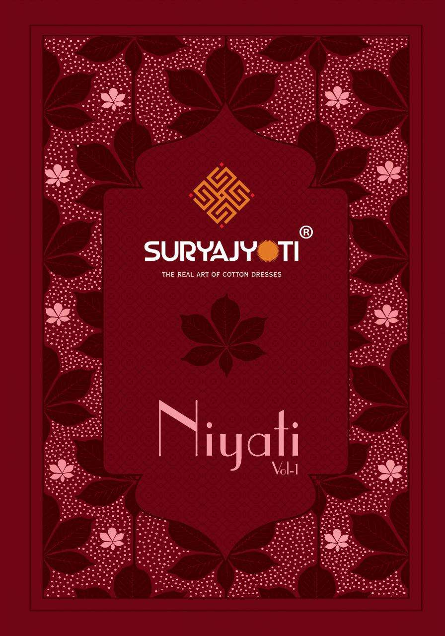 suryajyoti niyati vol 1 series 1001 to 1006 cotton casual wear dress material