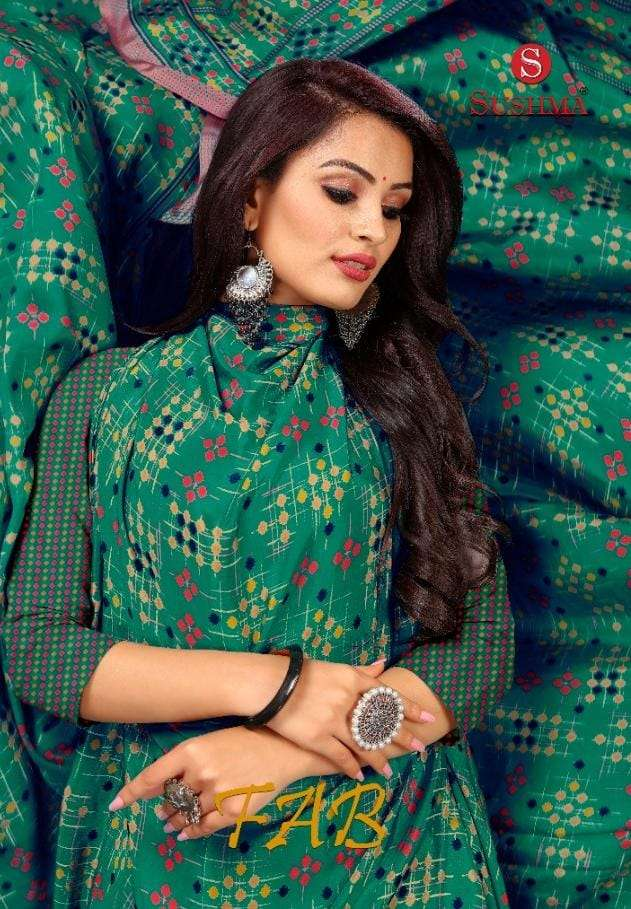 sushma fab slim crape casual wear sarees collection