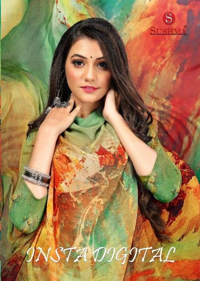 sushma insta digital georgette printed saris