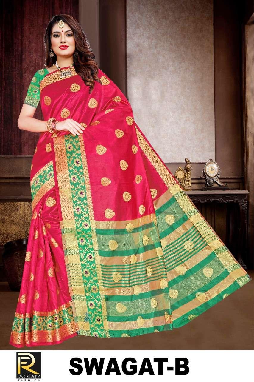 Swagat by ranjna saree formal wear silk saree collction online shop