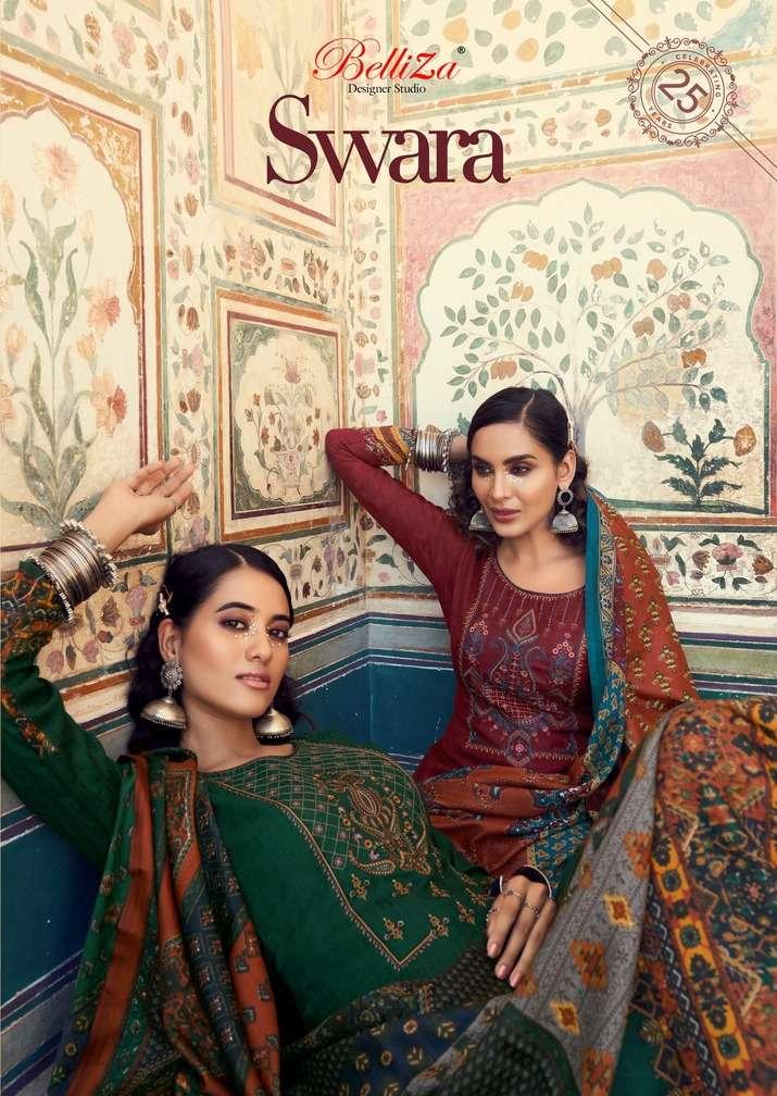 swara by belliza pashmina winter dress materials