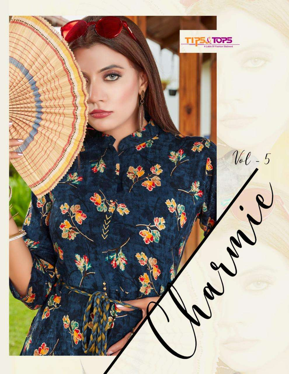 tips and tops charmie vol 5 gown style long kurtis supplier