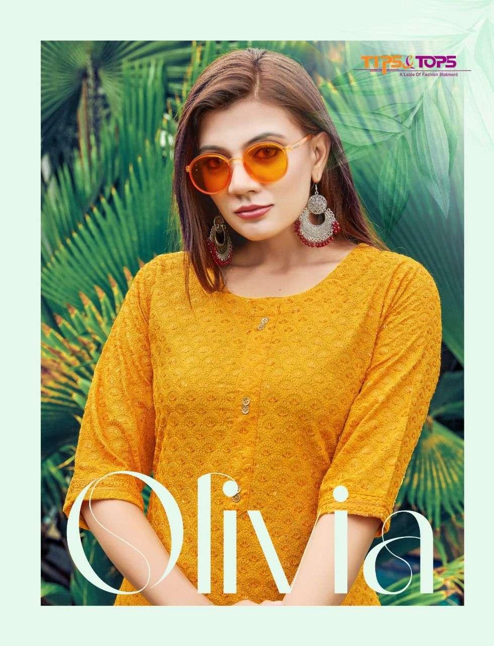 tips and tops olivia vol 2 chikan rayon kurtis supplier