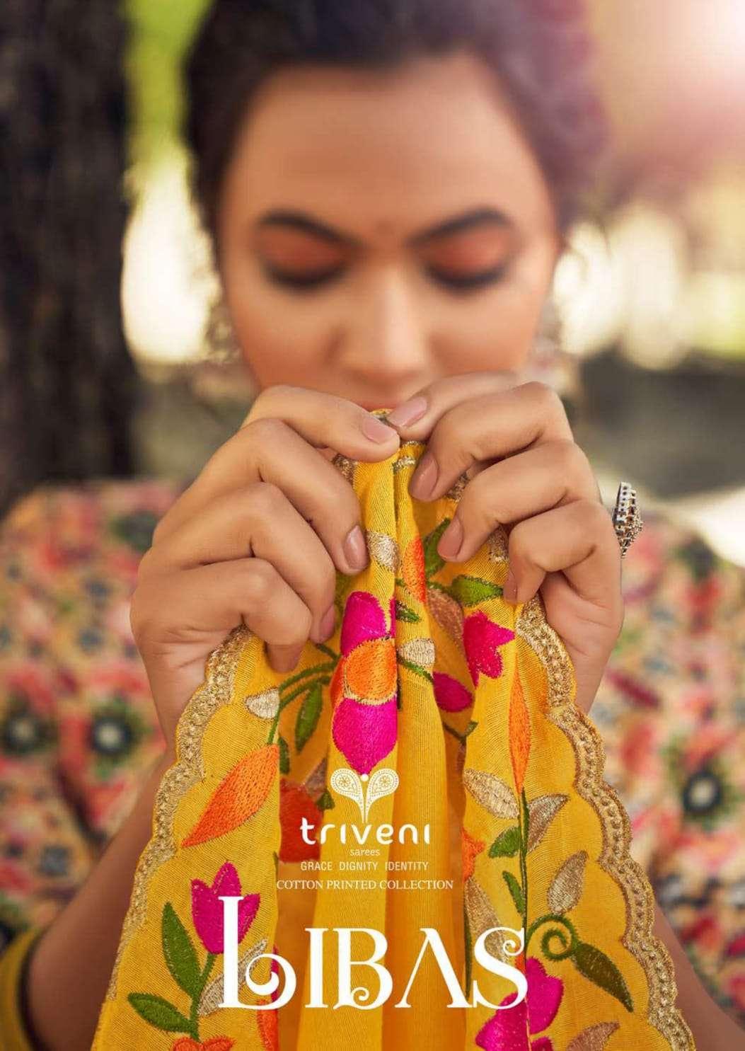 Triveni Libas organza fancy designer sarees