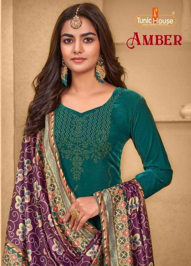 tunic ambar velvet designer winter salwar kameez catalog