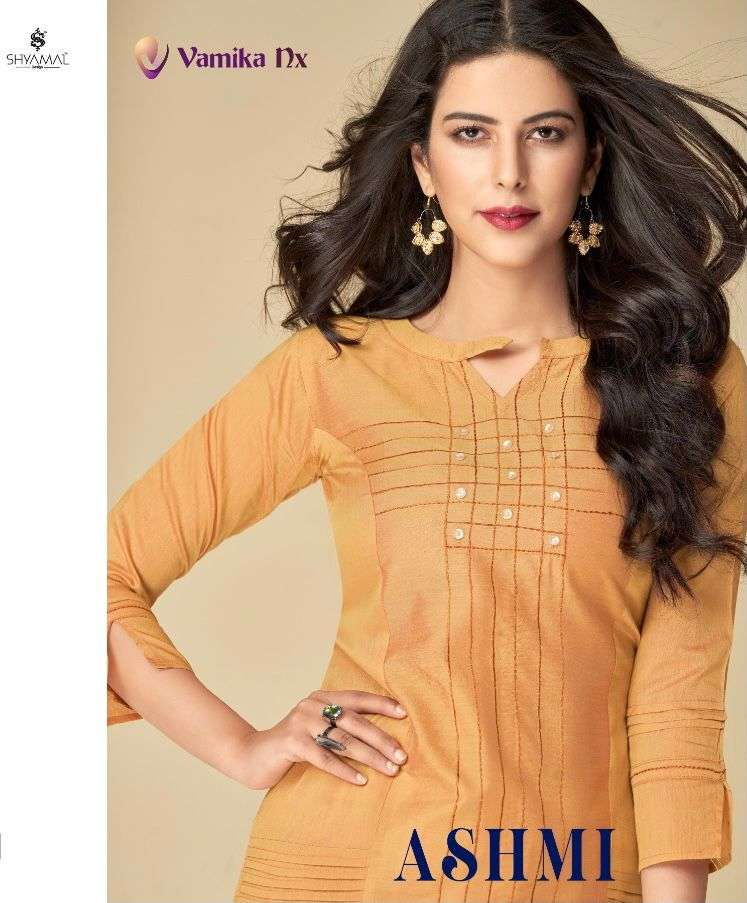 vamika nx ashmi d no 9001 TO 9009 new catalog of kurti with pant at best rates online