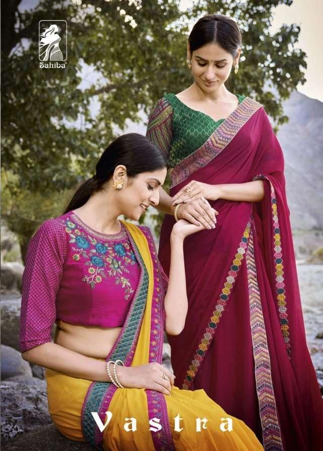 vastra by sahiba saree printed georgette designer saree