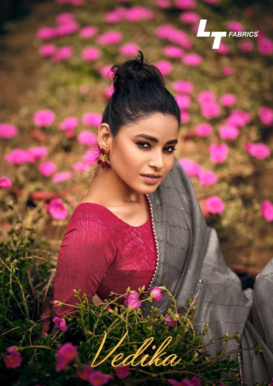 vedika by lt saree organza designer fancy saree collection