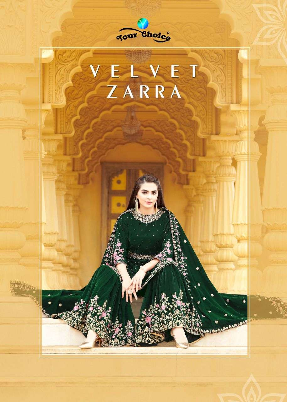 velvet zaraa by your choice exclusive pakistani winter suits