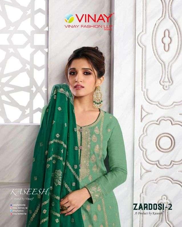 vinay kaseesh zardosi vol 2 exclusive fancy silk salwar suits design