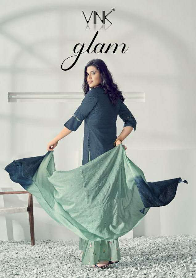 vink glam collection of kurta with dupatta & sharara