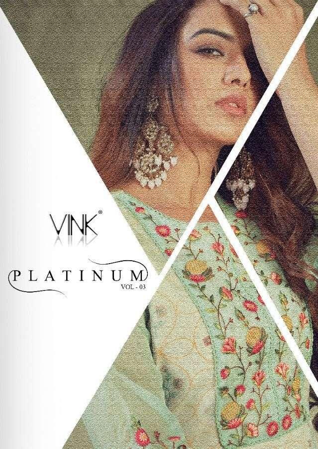 vink platinum vol 3 pure organza kurta with pant supplier