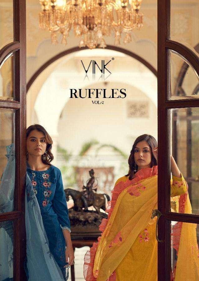 vink ruffles vol 2 silky readymade fancy salwar kameez