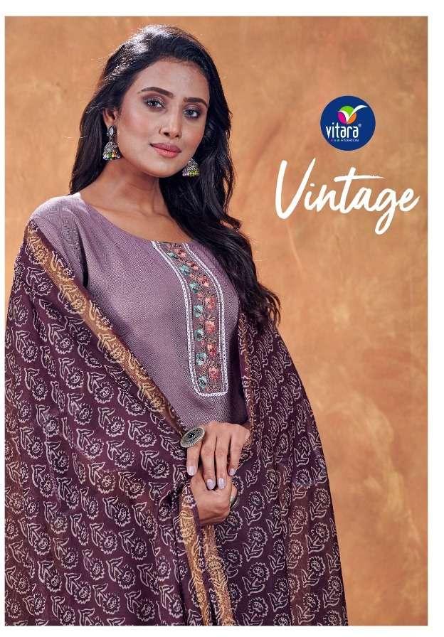 vitara fashion launch vintage exclusive designer kurti bottom with dupatta