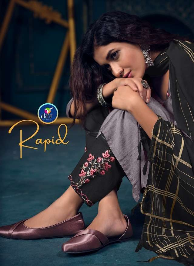 vitara rapid top with pant and dupatta complete set supplier