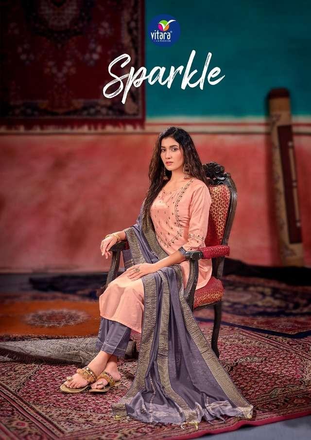 vitara sparkle full stitch fancy suit wholesaler