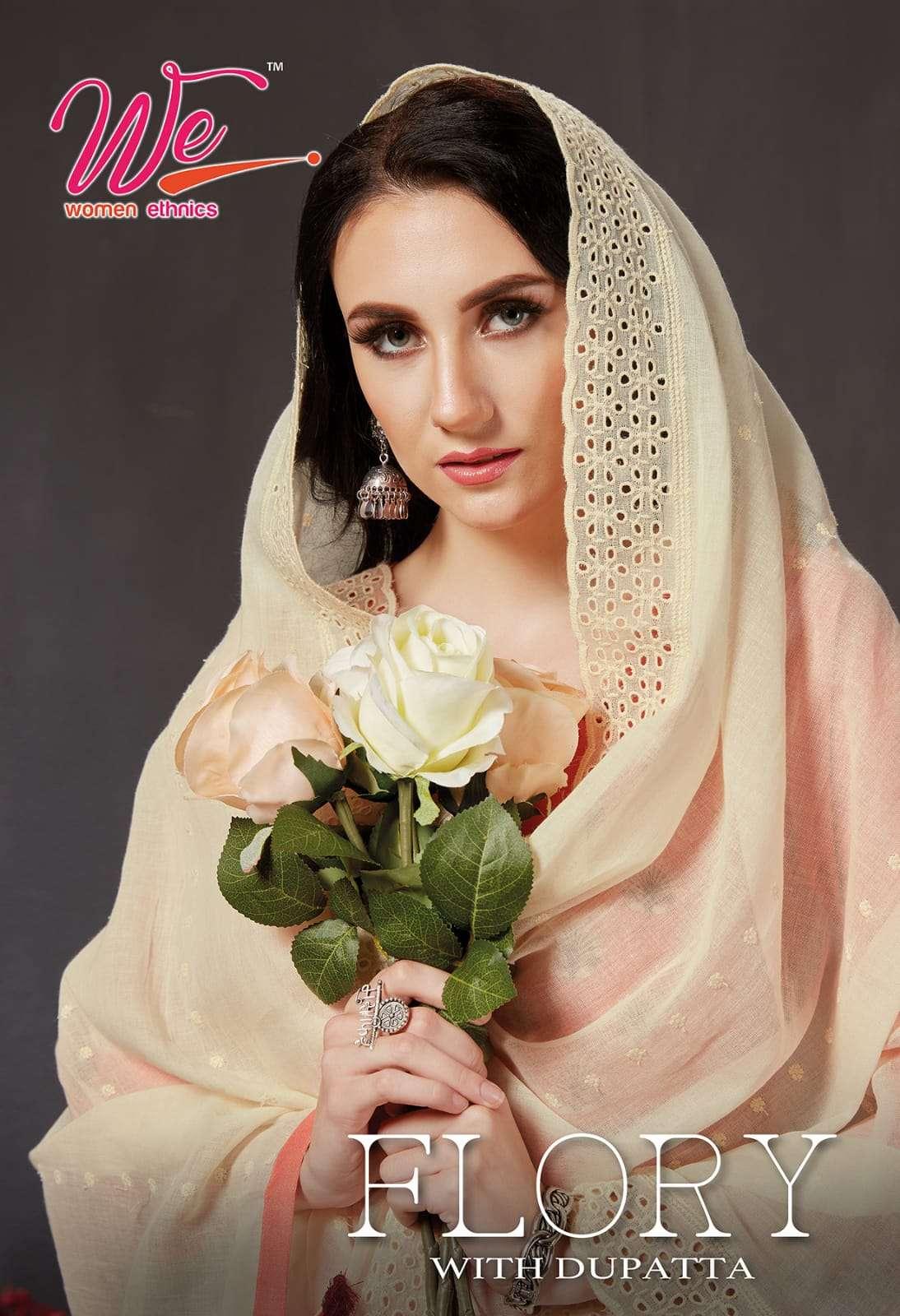 we women flory kurti with dupatta pair