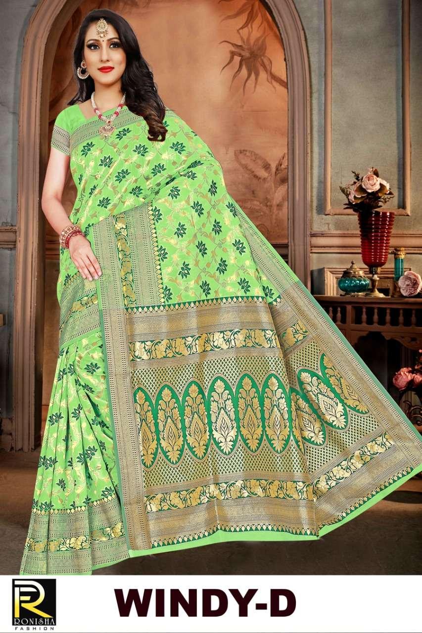 Windy by ranjna saree formal wear cotton silk weaving saree collction