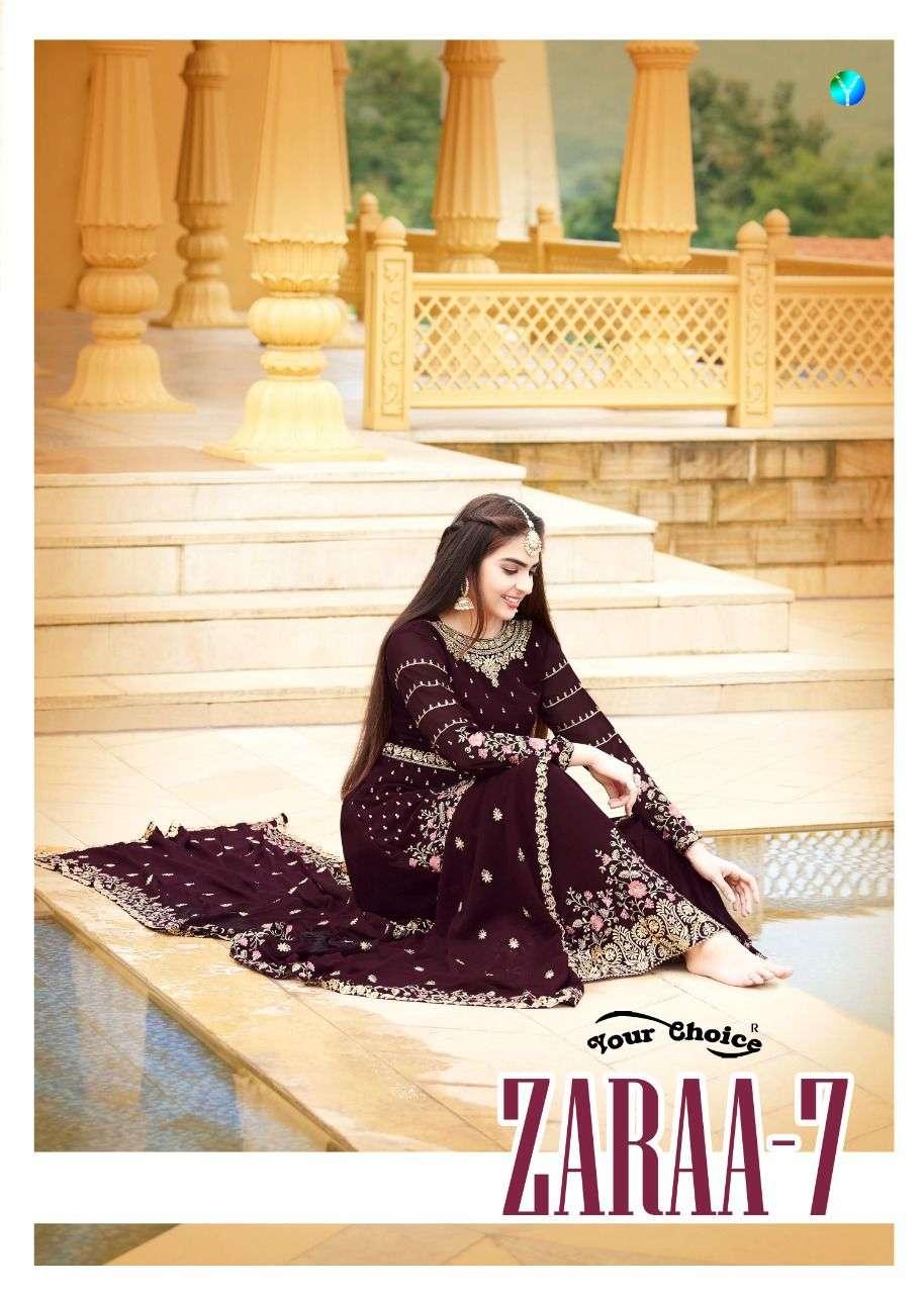 zaraa vol 7 by your choice georgette garara pakistani suits