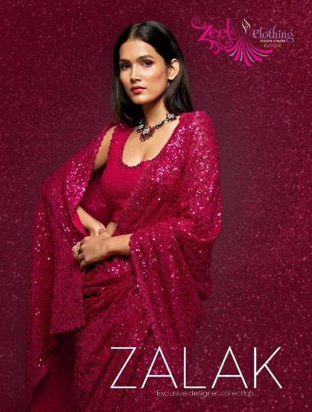 zeel clothing zalak thread and multiple sequence embroidery saris supplier