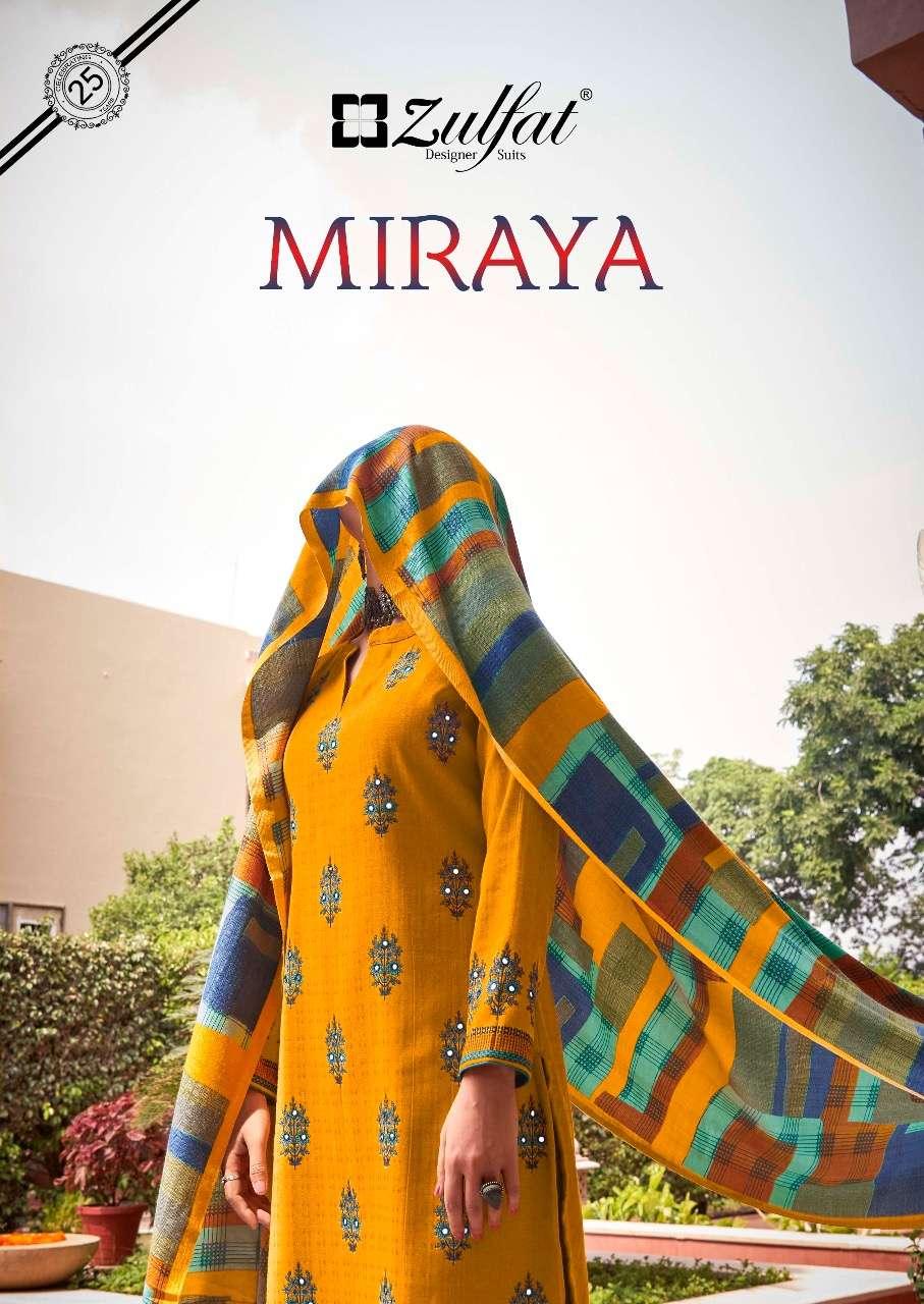 zulfat designer miraya pashmina dress materials with 3mtr bottom