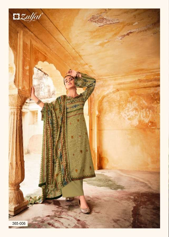 zulfat winter love pashmina printed garam dress mateerials